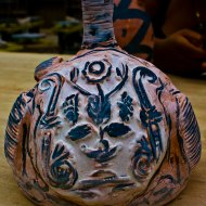 2nd view of the (almost) complete ceramic vessel, Moche-style