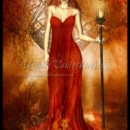 A beautiful internet image that I feel captures the spirit of Imbolc, or Candlemas, the beginning of Spring