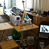 My studio at home
