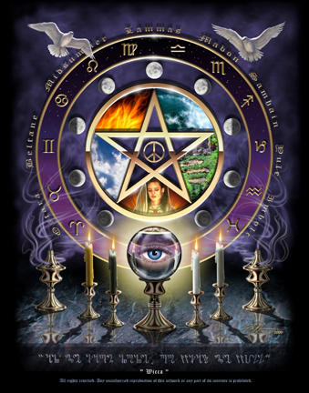 One internet image of the Wiccan Wheel of the Year