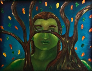 """Mabon"", 16"" X 20"" oil on canvas. The 2nd in a series of 8 on Wicca"