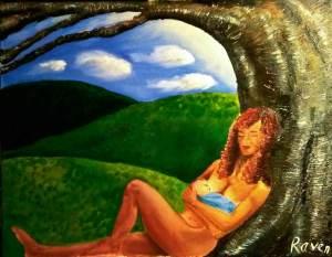 "Imbolc, 16"" X 20"" oil on canvas"