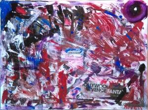 """Infatuation"" 18"" x 24"" Mixed Media on canvas"